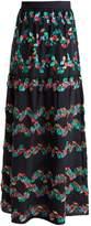 Peter Pilotto Tiered fil coupé silk-blend skirt