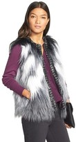 Kristen Blake Long Hair Faux Fur Vest