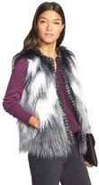Kristen Blake Women's Long Hair Faux Fur Vest