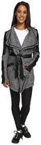 Blanc Noir Drape Sweater Coat