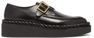 Valentino Exaggerated-sole Leather Loafers - Black
