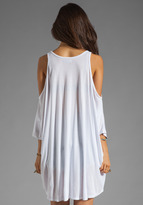 Lauren Moshi Macy Birdie Open Shoulder Top