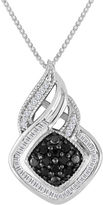 JCPenney FINE JEWELRY 1/3 CT. T.W. White & Color-Enhanced Black Diamond Sterling Silver Pendant