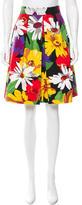 See by Chloe Matelassé Floral Print Skirt