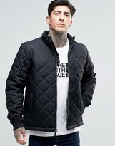 The North Face Quilted Bomber Jacket In Black