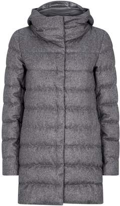 Herno Cashmere-Silk Hooded Down Jackets