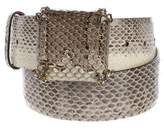 Roberto Cavalli Snakeskin Embellished Belt