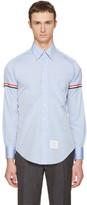Thom Browne Blue Classic Grosgrain Armband Shirt