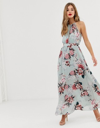 Forever New high neck floral printed maxi dress-Multi