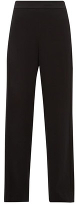 Diane von Furstenberg Clara High-rise Satin-striped Wide-leg Trousers - Black