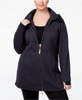 Calvin Klein Plus Size Hooded Active Jacket