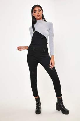 I SAW IT FIRST Black Ripped Skinny Dungarees