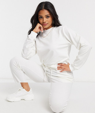 ASOS DESIGN tracksuit ultimate sweat / jogger with tie in organic cotton