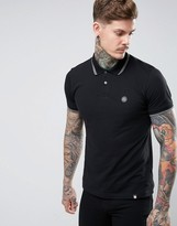 Pretty Green Barton Pique Polo in Black
