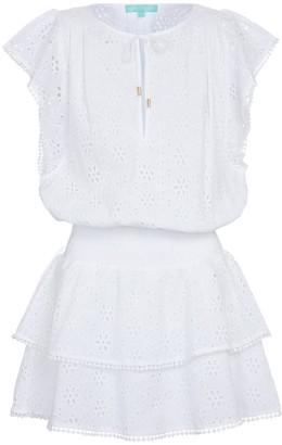 Melissa Odabash Keri broderie anglaise cotton minidress