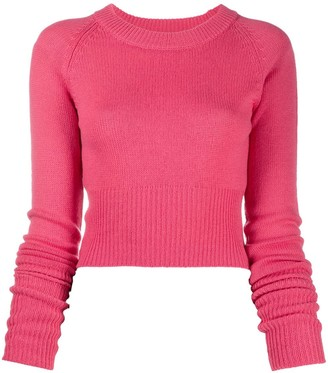 Prada Cropped Knit Jumper