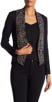 Haute Hippie Ponte Embellished Lapel Jacket