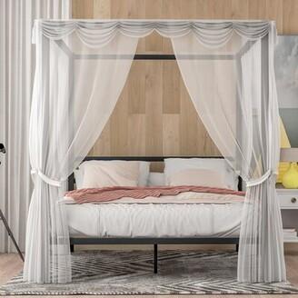 Latitude Run Castina Queen Canopy Bed Color: Black