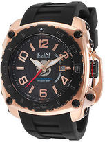 Elini Barokas 20009-RG-01-BB Men's The General Black Silicone and Dial
