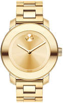 Movado Bold Mid-sized Gold Plated Stainless Steel Watch