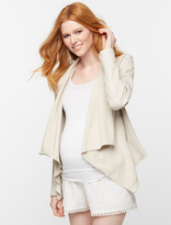 A Pea in the Pod Blank Nyc Leather Trim Faux Leather Maternity Jacket