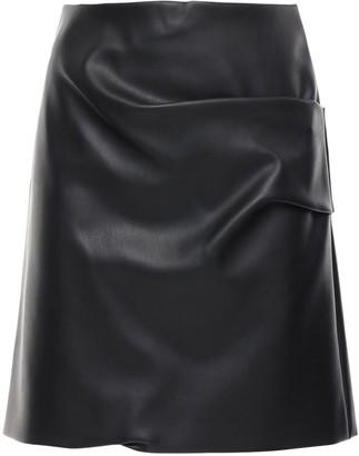 Patou Faux Leather Mini Skirt