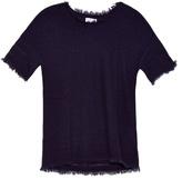 Velvet by Graham & Spencer Clara short-sleeved cashmere-knit sweater
