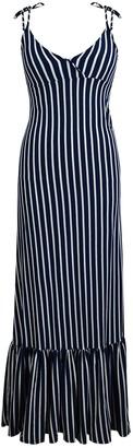 Velvet Torch Striped Tie Shoulder Maxi Dress
