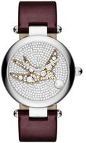 Marc Jacobs Dotty Sparrow Crystal, Stainless Steel & Leather Strap Watch