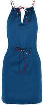 Eres Julie Cotton-jersey Halterneck Mini Dress - Storm blue