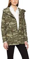 Tom Tailor Women's Decorated Military Parka Coat,(Manufacturer Size: Small)