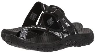 Skechers Reggae - Sparkle Swag (Black/White) Women's Shoes