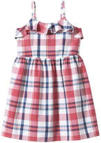 Joe Fresh Kid Girls' Plaid Pleat Dress, Pink (Size 12)