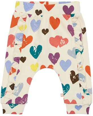 Molo HEART PRINT COTTON SWEATPANTS