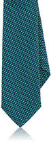 Barneys New York Men's Geometric Silk Necktie-NAVY