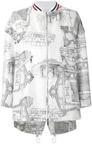 Moncler Gamme Rouge architecture print bomber jacket