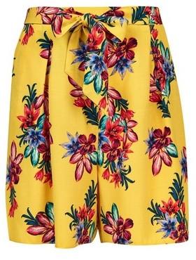Dorothy Perkins Womens **Dp Tall Yellow Floral Print Shorts, Yellow