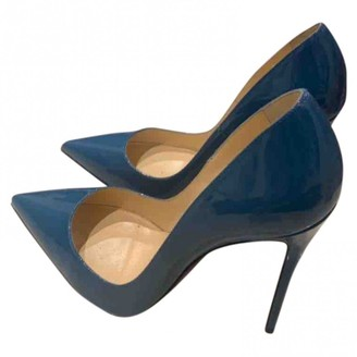 Christian Louboutin So Kate Blue Patent leather Heels