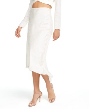 GUESS Evolette Bias-Cut Midi Skirt