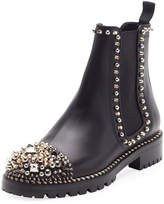 Christian Louboutin Chasse A Clou Flat Chelsea Bootie, Black