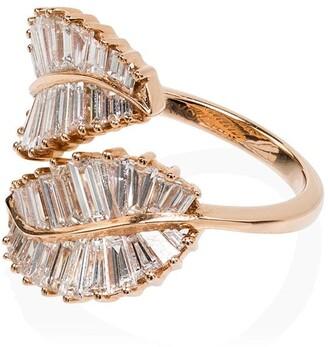 Anita Ko 18kt Rose Gold Diamond Palm Leaf Ring