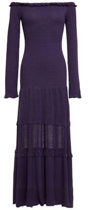 Altuzarra Off-the-shoulder Ruffle-trimmed Stretch-knit Midi Dress