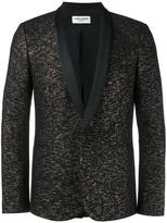 Saint Laurent jacquard tuxedo jacket - men - Silk/Cotton/Polyamide/Virgin Wool - 52