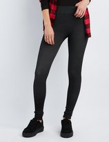 Charlotte Russe Textured French Terry Leggings