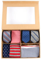 The Tie Bar Red and Navy Large Style Box