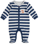 Petit Lem Lions Striped Footed Sleeper
