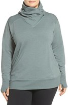 Zella 'Frosty' Asymmetrical Zip Pullover (Plus Size)