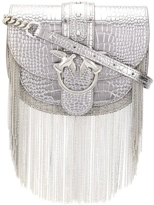 Pinko Love chain fringe shoulder bag