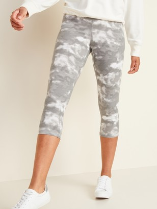 Old Navy High-Waisted Printed Cropped Leggings