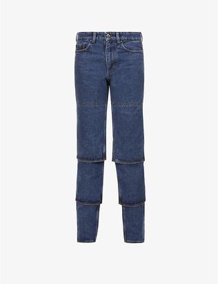 Y/Project Multi Cuff tapered high-rise organic-denim jeans